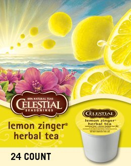 LEMON ZINGER HERBAL TEA K CUP 120 COUNT by GREEN MOUNTAIN / CELESTIAL SEASONINGS