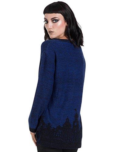 Jawbreaker Donna Maniche Maglione lunghe Blu wBBX04q