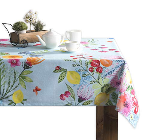 - Maison d' Hermine Jardin D'Ete 100% Cotton Mint Tablecloth 60 Inch by 120 Inch