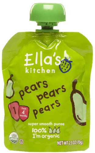 Ellis Kitchen Pears Pears Pears Organic Baby Food for Stage 1, 2.5 Ounce -- 7 per case.