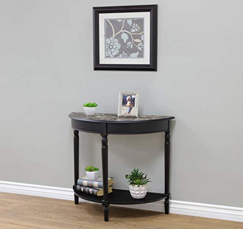 (Frenchi Home Furnishing Entryway Table with Faux Marble Top)