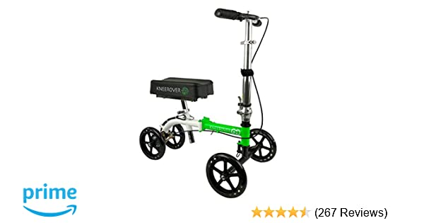 NEW KneeRover GO Knee Walker - The Most Compact & Portable Knee Scooter Crutches Alternative