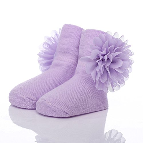 Zhhyizhi Buena calidad Comfortable Baby Lace Flower Cotton Socks Girls Extra Soft Breathable Socks