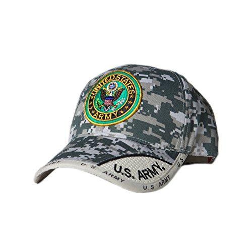 Army Round Digital Pixel Camo Logo Cap (Pixel Camo Army Cap)