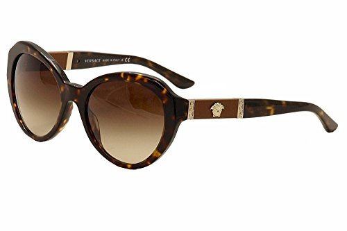 Versace Women's VE4306Q Havana/Havana/Brown - Sunglasses Latest Versace