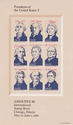 1986 Ameripex '86 4 Sheets 22¢ US Postage Stamps Scott #2216-19