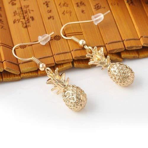 Fashion Cute Chic Gold Hawaiian Dangle Pineapple Fruit Earring Earrings Hook