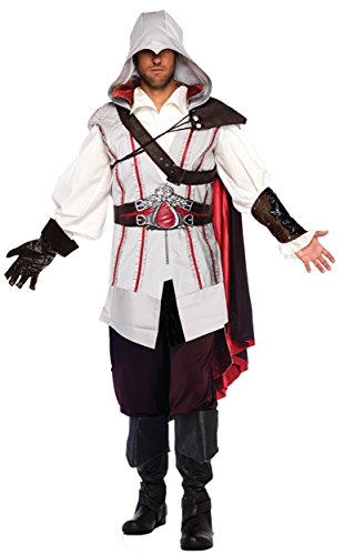 Ezio Auditore Costume (UHC Men's Assassins Creed 2 Ezio Auditore da Firenze Outfit Halloween Costume, S/M (38-40))