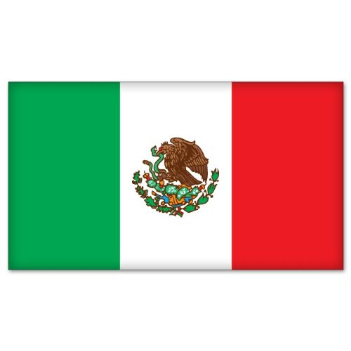 MEXICO Mexican Flag car bumper sticker decal 5
