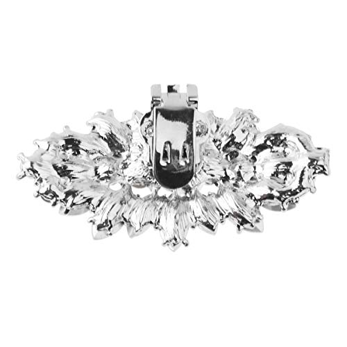 FEESHOW Elegant Rhinestone Crystal Metal Shoe Clips Wedding Party Pack Type C One Size by FEESHOW (Image #4)