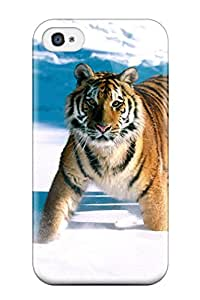 Best Iphone 4/4s Case Cover - Slim Fit Tpu Protector Shock Absorbent Case (majestic Grace, Siberian Tiger) 6510489K44155559
