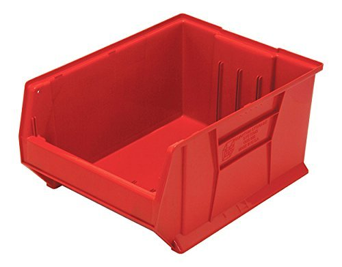 (Quantum QUS955 Plastic Storage Stacking Hulk Container, 24-Inch by 18-Inch by 12-Inch, Red, Case of 1)