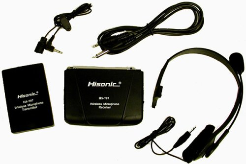 Hisonic HS707 Portable Battery Powered VHF La Valier and Headset Wireless Microphone System
