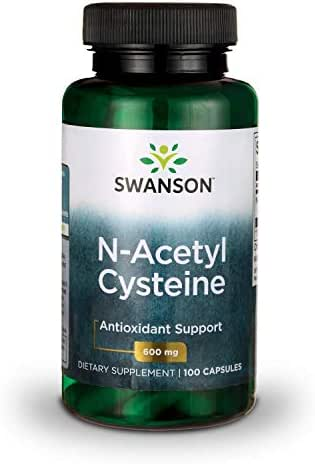 Swanson NAC N-Acetyl Cysteine Antioxidant Anti-Aging Liver Support & Amino Acids Supplement 600 mg 100 Capsules