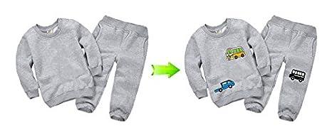 OPEN BUY Pegatinas infantiles transfer parche termoadhesivo coches y autobuses para pijamas, sudaderas, camisetas, canastillas.22 x 16 cm: Amazon.es: Hogar