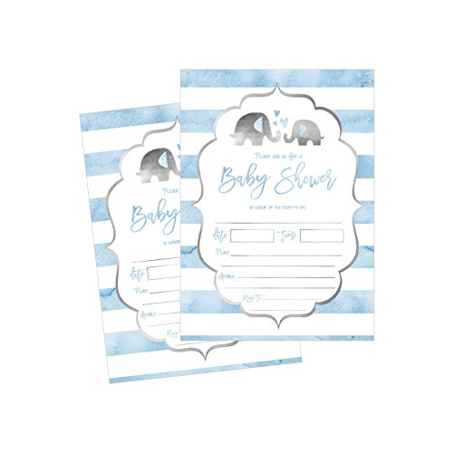 50 Fill in Baby Shower Invitations, Baby Shower Invitations Elephant, Jungle, Baby Shower Invites Boy, Baby Boy Shower Invitations, Baby Invitations, Neutral Baby Shower Invitations ()