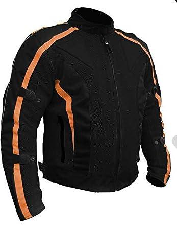 Chicane Summer Mesh Armoured Waterproof Motorcycle Jacket 6XL 52 Orange