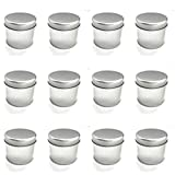 Tin Cans, 12 Pack,  Large (8 Ounce) , 3 x 2.6 Inch, For Creams, Art and Crafts, Storing Spices and Candy, and More by Toucan Craft Supplies