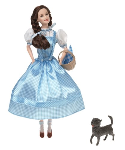 (Barbie as Dorothy The Wizard of Oz 1999 Talking Collector Doll! Ruby slippers light up. Dorothy Talks. Made by Mattel. Item Number: 25812)