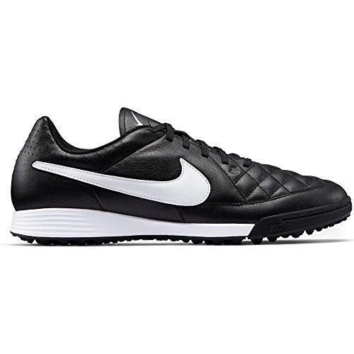 Football Leather Shoes White TF Men's niketiempo Black Genio NIKE zqxAp6X6
