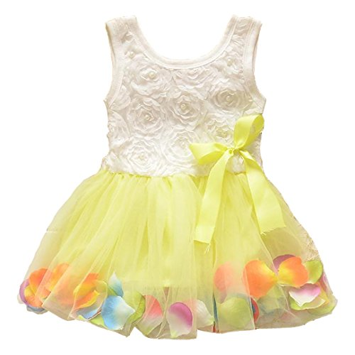 Baby Girls Bowknot Striped Tutu Dress Party Lace Ruffled T-shirt Skirt (0-12 Months, - Skirt Skort Striped