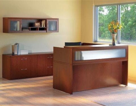 Mayline L-Shaped Reception Desk 72
