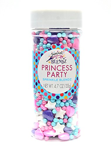 Festival Princess Party Sprinkle Blendz, Assorted Colors, 4.7 oz. Jar ()