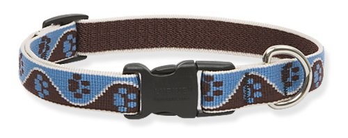 Lupine Muddy Paws Adjustable Collar for Dogs with 15-to-25-Inch Necks, .75-Inches Wide