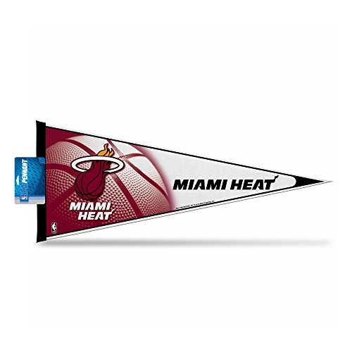 Rico Industries PNTH77001-H Pennant 12 x 30 - Miami Heat -