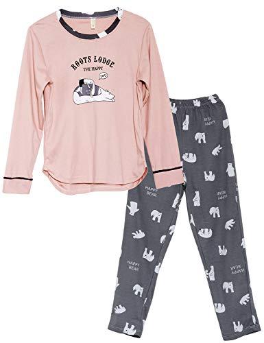 Big Girls Cute Polar Bear Pajama Set Long Sleeve & Pants Tweens/Teens Sleepwear Kids Size 14
