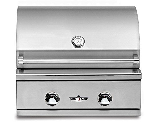 (Delta Heat Built-in Gas Grill with Infrared Sear Zone (DHBQ26G-D-N-DHSZ-KIT-B), 26-Inches, Natural Gas )