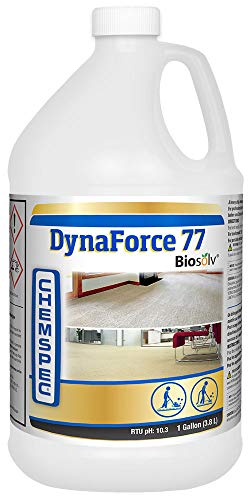 Chemspec Dynaforce 77 with Biosolv, Professional Carpet Cleaning Detergent for Commercial and Residential Carpet, 1 Gal (Commercial Carpet Detergent)