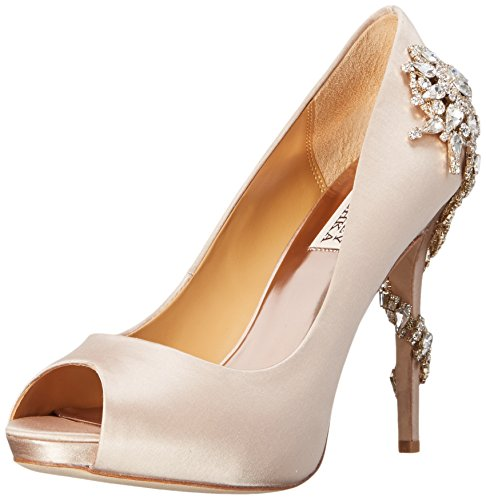 Badgley Mischka Women's Royal Dress Pump, Nude, 9.5 M US