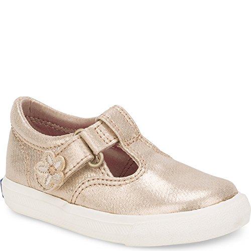 Keds Daphne T-Strap Sneaker (Toddler/Little Kid), Gold, 8.5 M US Toddler by Keds