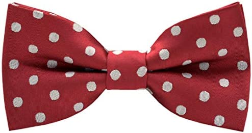 Carahere Boys Handmade Pre-Tied Classic Polka Dot Bow Ties M132