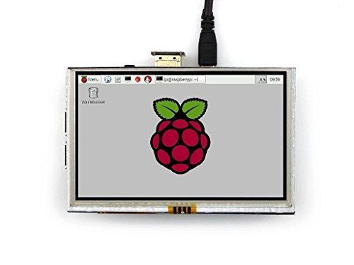 REES52 Raspberry Pi LCD Display Module 5inch 800480 TFT Resistive Touch Screen Panel HDMI Interface for Any Model of Rapsberry-pi A/A+/B/B+/2 B -