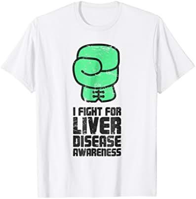 Fight - Green Ribbon Liver Disease Awareness T-Shirt