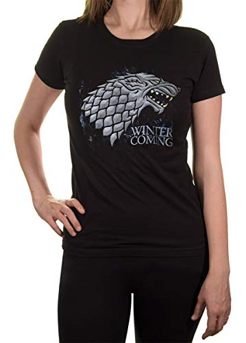 Game of Thrones Ladies' House Sigil T-Shirt (Small, Stark) ()