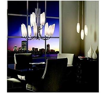 Kichler 42213CH, Stella Glass Chandelier Lighting, 9 Light, 540 Total Watts Halogen, Chrome