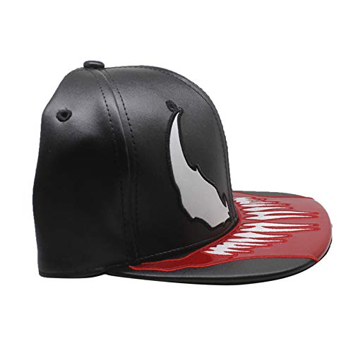 96483414b9cf9 Xuzirui PU Leather Venom Spider Hats Snapback Cool Flat Hat Adjustable  Outdoor Sunhat Hip Hop Caps