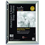 SECO Front Load Easy Open Snap Frame Poster/Picture Frame 11 x 17 Inches, Silver Metal Frame (SN1117-SV)