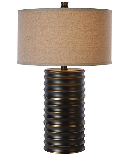 Trend Brass Table Lamp - Trend Lighting TT4080 Wave Ii Table Lamp, Aged Brass Finish