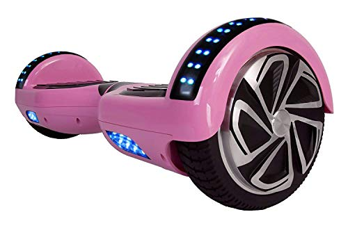 - WorryFree Gadgets Self-Balancing Hoverboard w/Bluetooth Speaker, UL2272 Certified - LED Lights and Light-up Wheels (C1+Pink)