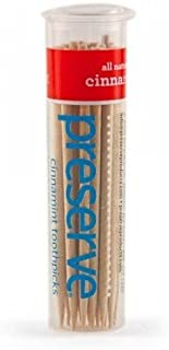 product image for Preserve Toothpicks, Preserve, Cinnamint, 1 canister with 35 picks. This multi-pack contains 4.