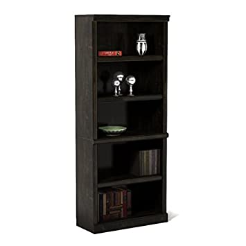 Better Homes and Gardens Wood Composite 5-Shelf Bookcase in Estate Black Finish