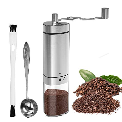 Lowest Prices! Manual Coffee Grinder with Adjustable Setting, GDREAMT Portable Hand Burr Coffee Grin...