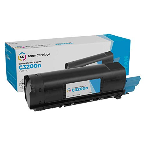 LD Compatible Toner Cartridge Replacement for Okidata 43034803 Type C6 (Cyan) 43034803 Cyan Laser Toner