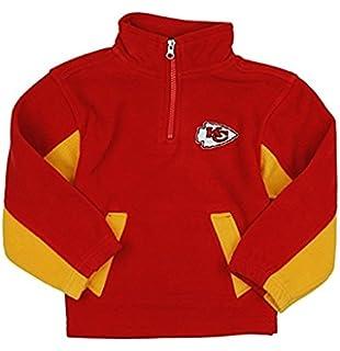 7651e048a Outerstuff Kansas City Chiefs NFL Little Boys 1 4 Zip Micro Fleece Sweater