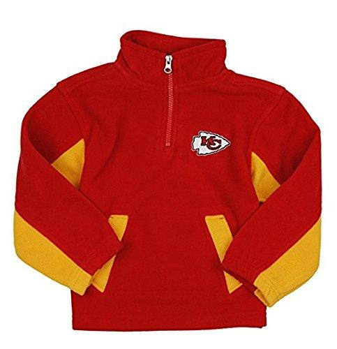 dc5e7f95 Outerstuff Kansas City Chiefs NFL Little Boys 1/4 Zip Micro Fleece Sweater,  Red