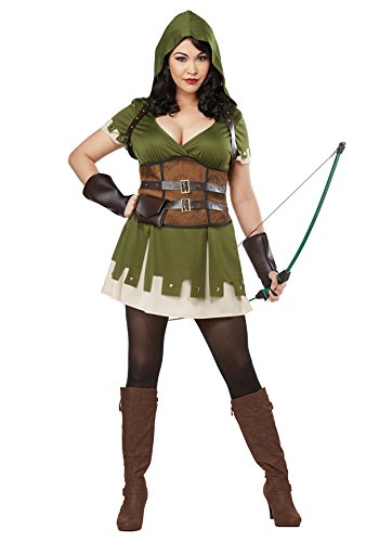 California Costumes Women's Size Lady Robin Hood Adult Woman Plus, Olive/Brown, 3X Large -